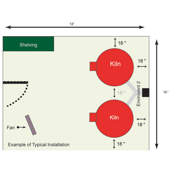 Skutt Kiln Room Diagram