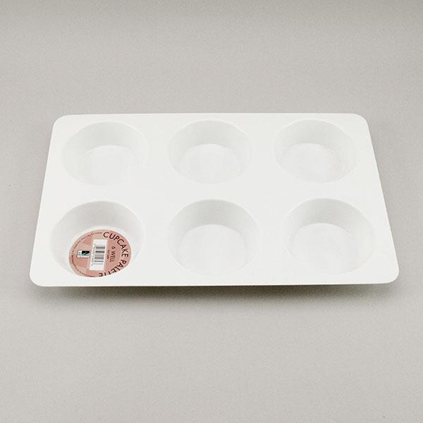 Plastic Cupcake Paint Tray – 6 Well
