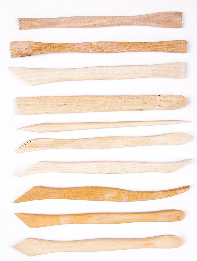 CCA - Wood Modeling Tools Set, 10 Pieces, 8""