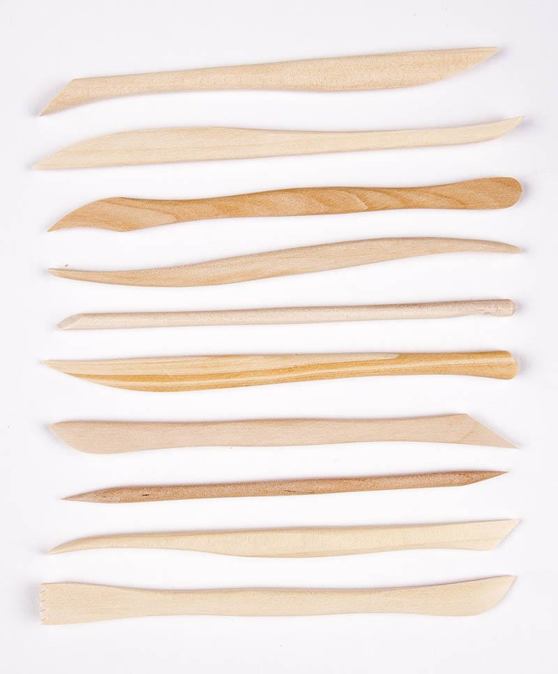 CCA - Wood Modeling Tools Set, 10 Pieces, 6""