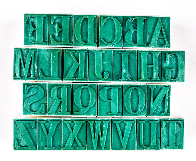 "CCA - Rubber Stamps,Letters 1 1/8"" Tall"