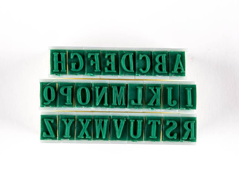 "CCA - Rubber Stamps,Letters 1/4"" Tall"