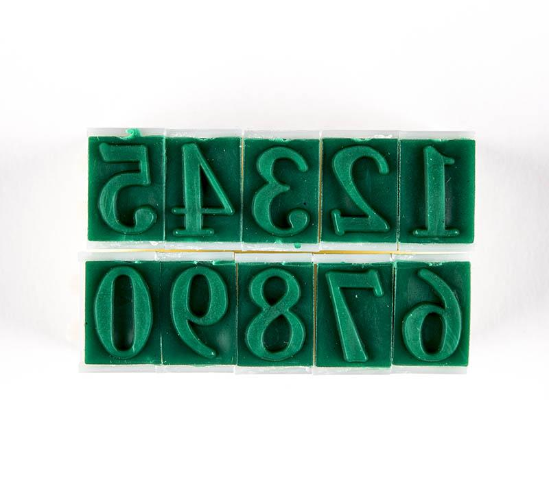 "CCA - Rubber Stamps, Numbers 1/2"" Tall"
