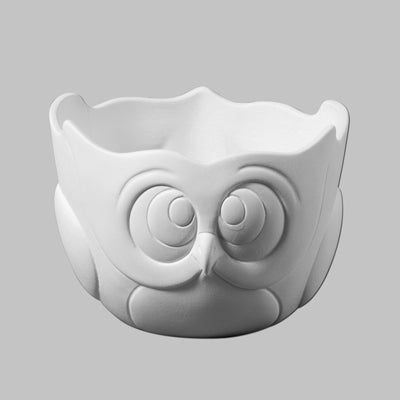 Mayco Earthenware Bisque - MB1350 Owl Bowl