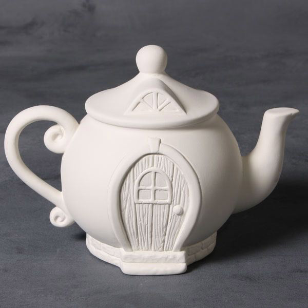 Mayco Earthenware Bisque - MB1502 Teapot Fairy House