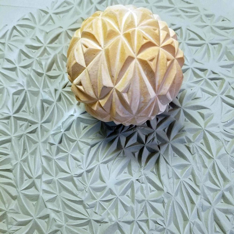 Clay Planet Texture Sphere – Triangles