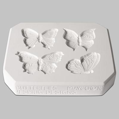Mayco - Sprig Mold – CD1261 – Butterflies