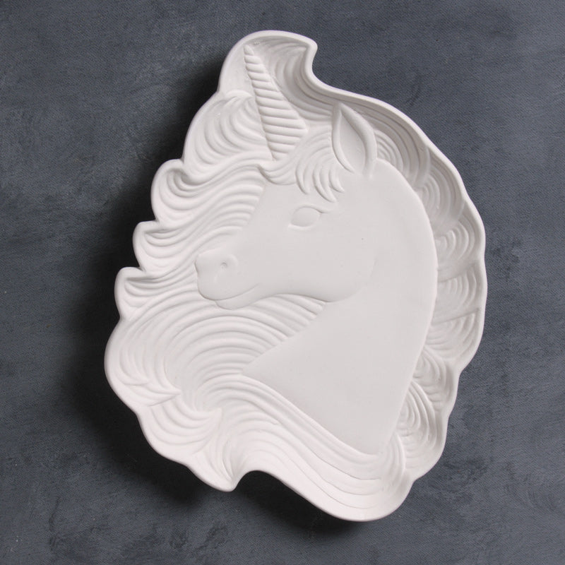 Mayco Earthenware Bisque - MB1521 Magical Unicorn Dish