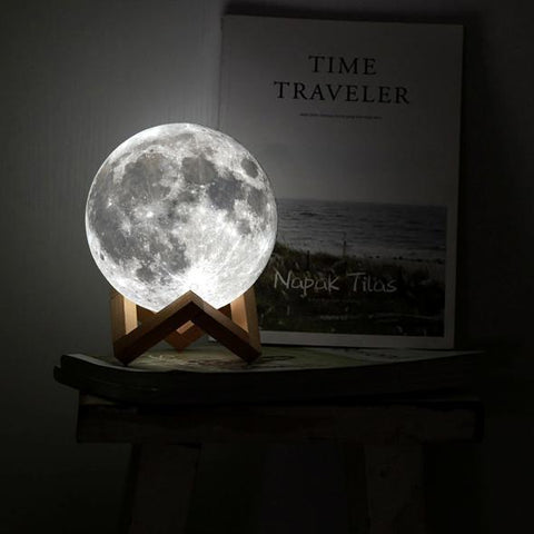 Glowing Moon Lamp - ProsperousNomad.com