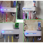UV Light Ultraviolet Toothbrush Sterilizer, Holder, and Automatic Toothpaste Dispenser - ProsperousNomad.com