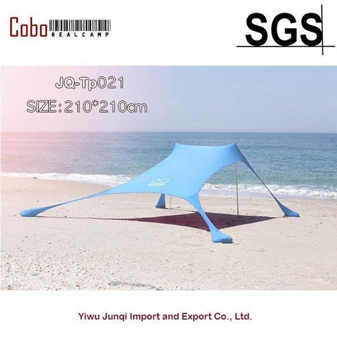 Portable Stakeless Windproof Beach Sunshade and Gazebo Tent - 210 X 210 - with Sand Anchors. - ProsperousNomad.com