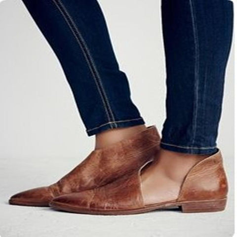 Whiskey Royal Pointy Toe Flat - ProsperousNomad.com