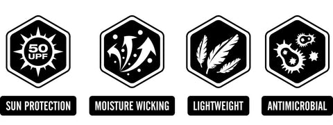 Wicked Catch performance fishing shirt icons