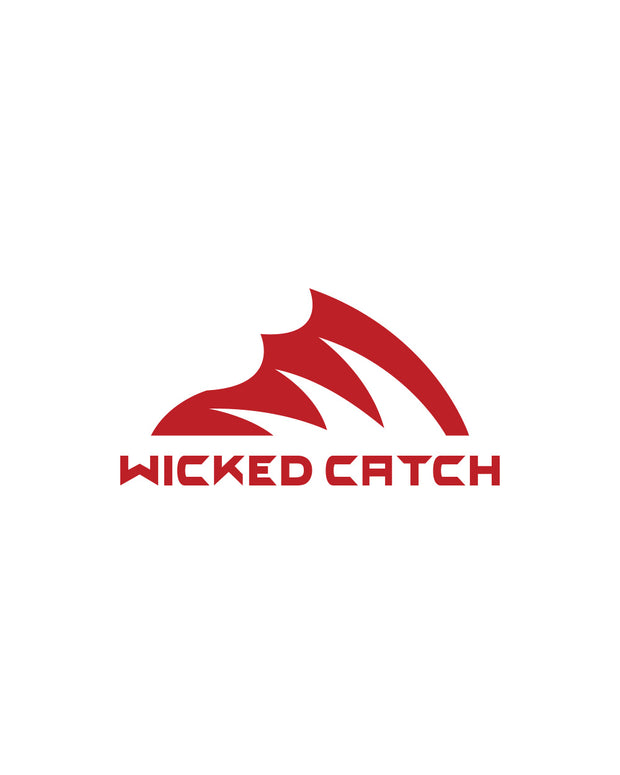 Wicked Catch Iconic fish gill red decal