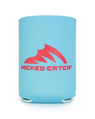 Wicked Catch Iconic blue gray can cooler
