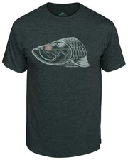 Super Fly Tarpon T-Shirt - Carbon:  Wicked Catch lifestyle fishing t-shirt - front