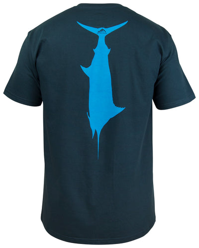 T.C. Marlin T-Shirt - Navy blue:  Wicked Catch lifestyle fishing t-shirt - back
