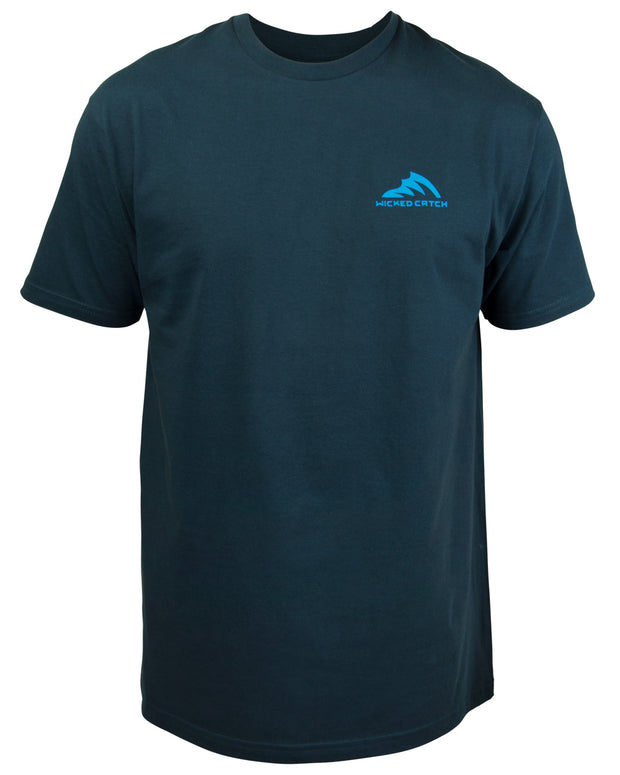 T.C. Marlin T-Shirt - Navy blue:  Wicked Catch lifestyle fishing t-shirt - front