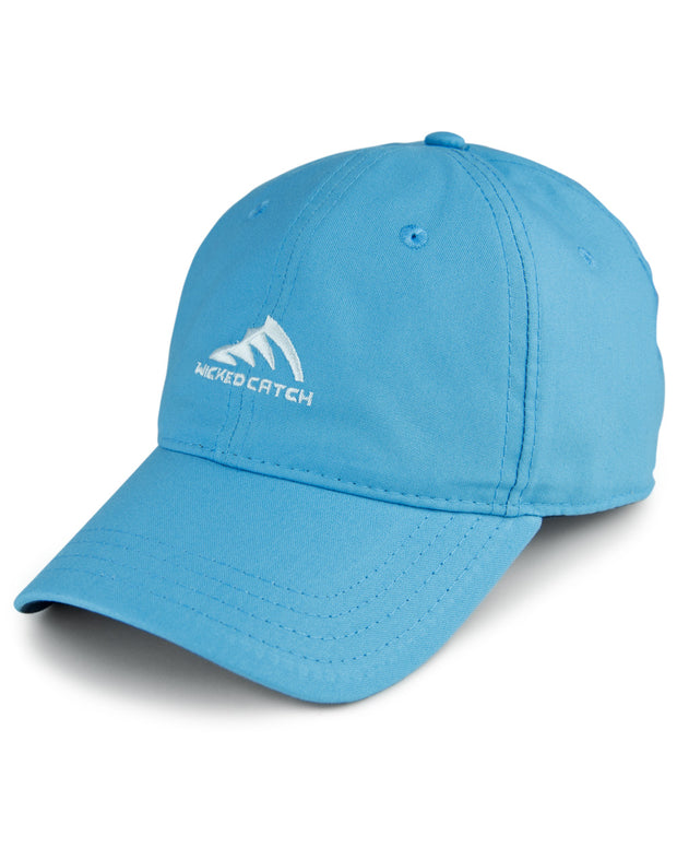 WC Logo - Carolina: Wicked Catch lightweight fishing hat - front