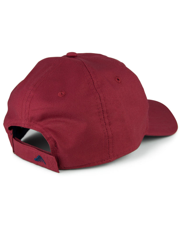 WC Logo - Fish gill red: Wicked Catch lightweight fishing hat - back