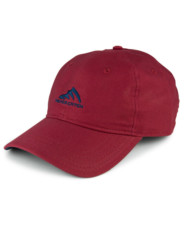 WC Logo - Fish gill red: Wicked Catch lightweight fishing hat - front