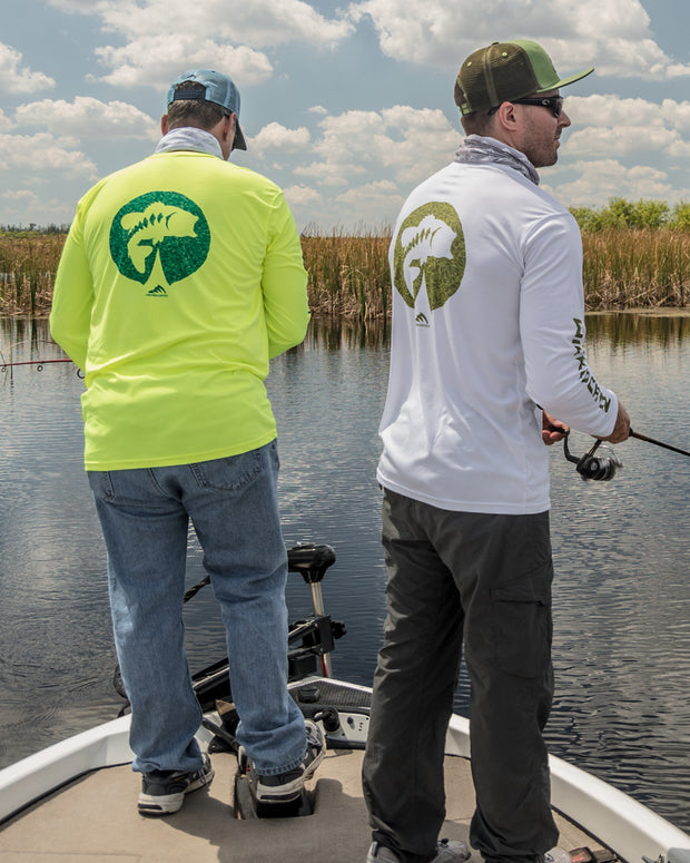 Bass on the Pad: Wicked Catch performance fishing shirt - lifestyle