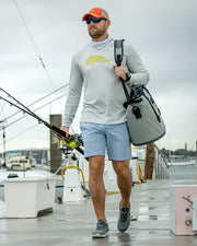 Wicked Bull Dolphin - Fog gray: Wicked Catch long sleeve UPF 50+ performance fishing shirt - outdoor