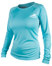 Women's Iconic - Coral blue: Wicked Catch performance fishing shirt - front