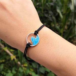 Blue Ocean Double Wave Bracelet