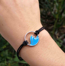 Load image into Gallery viewer, Blue Ocean Double Wave Bracelet
