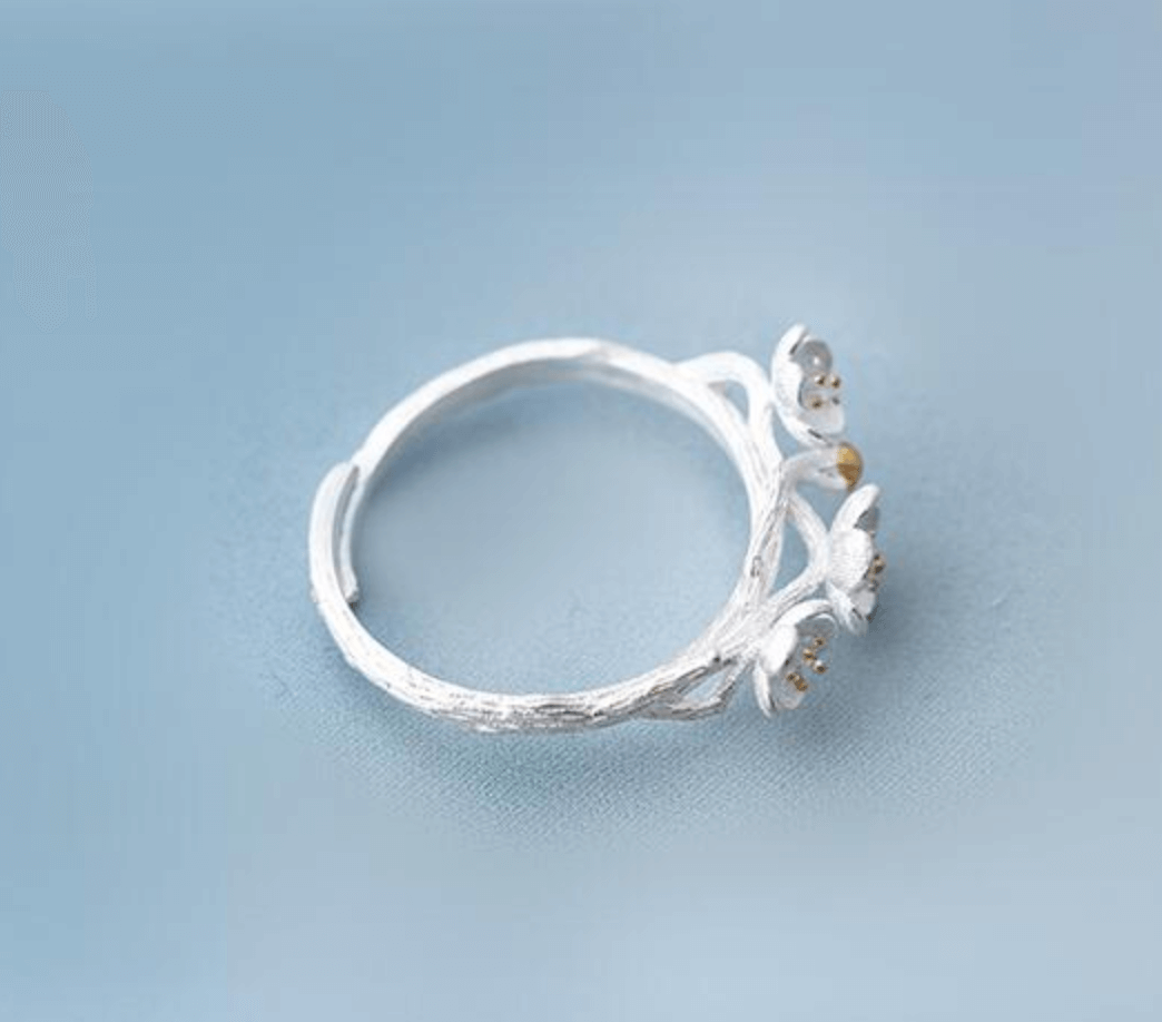 Handmade Cherry Blossom Branch Ring