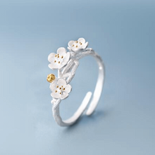 Load image into Gallery viewer, Handmade Cherry Blossom Branch Ring