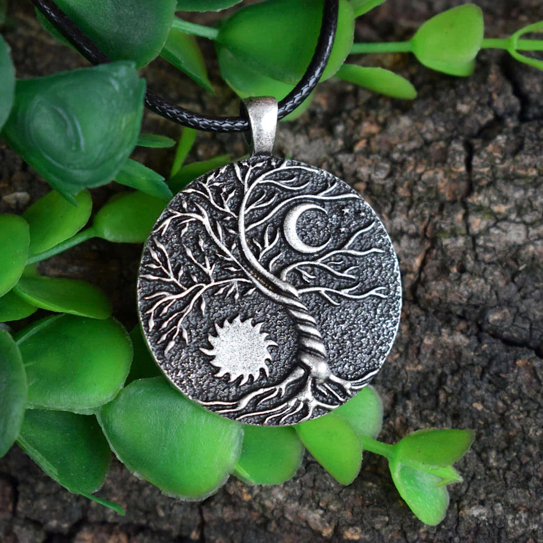 Earth and Sky Pendant Necklace