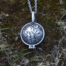 Load image into Gallery viewer, Forest Memories Locket Pendant Necklace