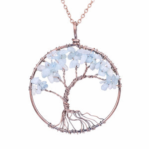 Hand Crafted Gemstone Tree Necklace (17 Styles)