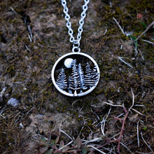 Load image into Gallery viewer, Handmade Winter Forest Pendant Necklace