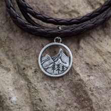 Load image into Gallery viewer, Handmade Mountain Pendant Bracelet
