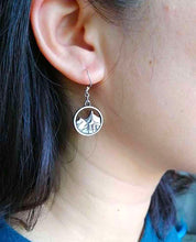Load image into Gallery viewer, Handmade Sterling Silver Mountain Pendant Earrings