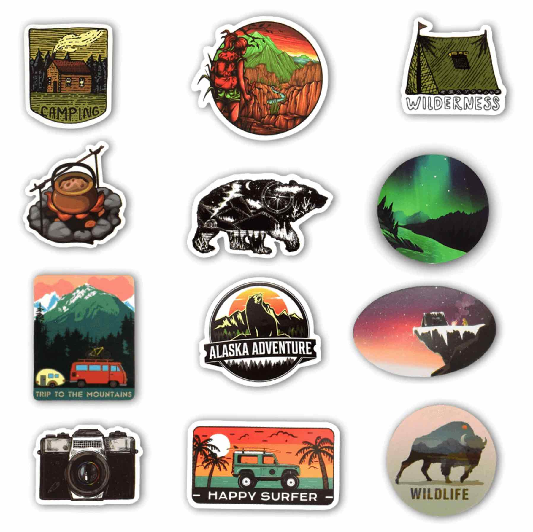 Live Your Adventure 50 Piece Sticker Pack