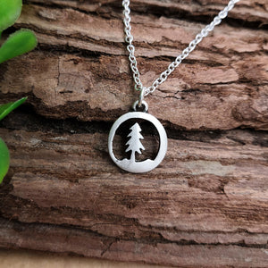 Pine Tree Pendant Necklace