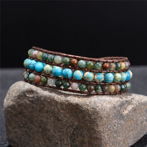 Handmade Three Layer Cuff Bracelet