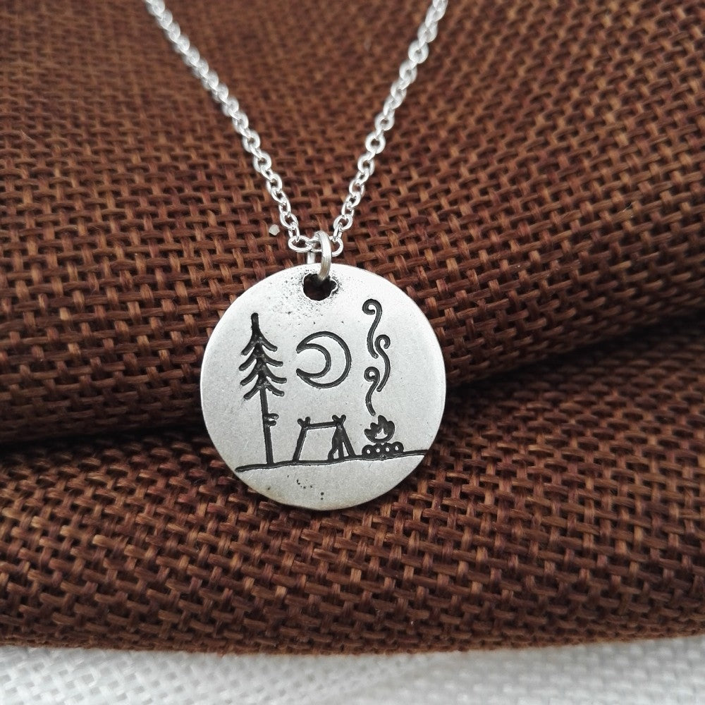Camping Memories Pendant Necklace