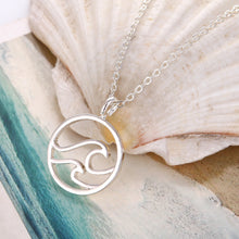 Load image into Gallery viewer, Handmade Double Wave Necklace
