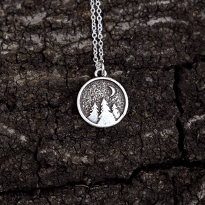 Handmade Forest Pendant Necklace