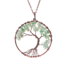 Load image into Gallery viewer, Hand Crafted Gemstone Tree Necklace (17 Styles)