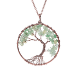 Hand Crafted Gemstone Tree Necklace