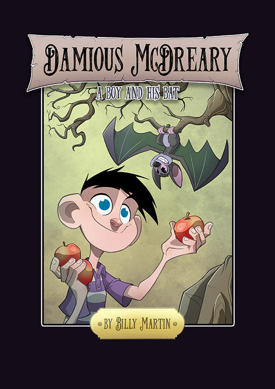Damious McDreary A Boy and His Bat Hardcover Book (Signed) with Sketch