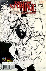 B/W Dr. Strange and the Sorcerers Supreme #1 Variant cover (signed)