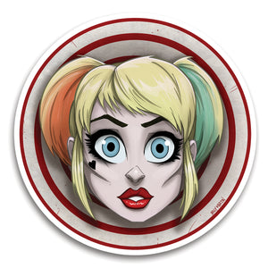 Harley Quinn Circle Sticker