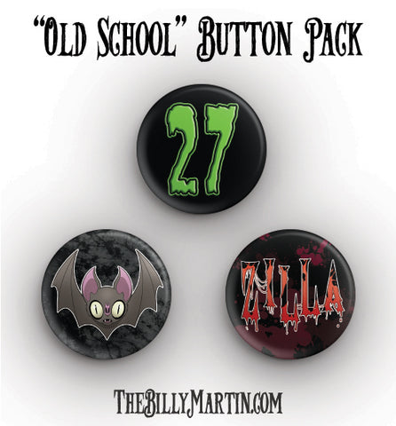 """Old School"" Button Pack"